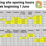 recycling sites timetable June 2020